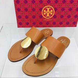 Tory Burch Patos Disk Women's Sandal Tan / Gold